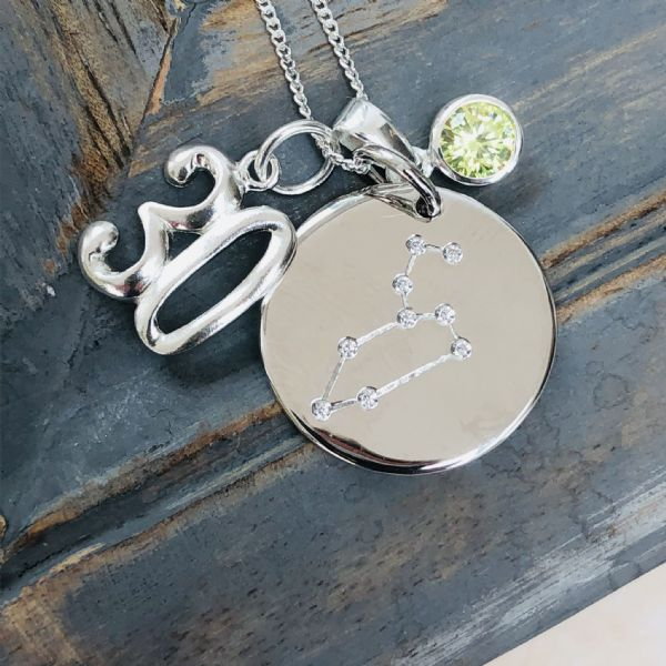 30th birthday constellation  jewellery gift